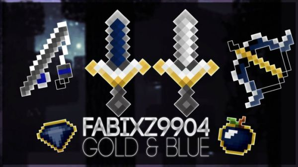 Gold & Blue PvP Texture Pack (FPS Friendly) 1.9.4, 1.8.7 & 1.7.10
