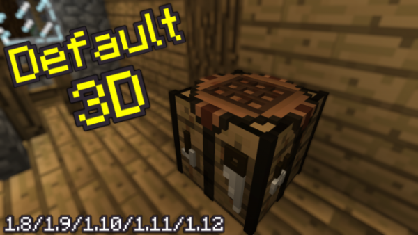 Default 3D 1.14.2 / 1.14.1 / 1.14 / 1.13 / and Lower Versions