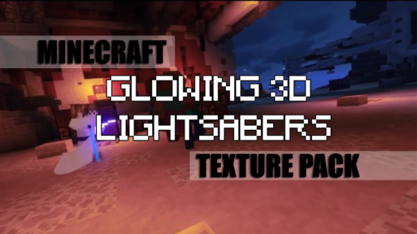 Glowing 3D Lightsabers Resource Pack