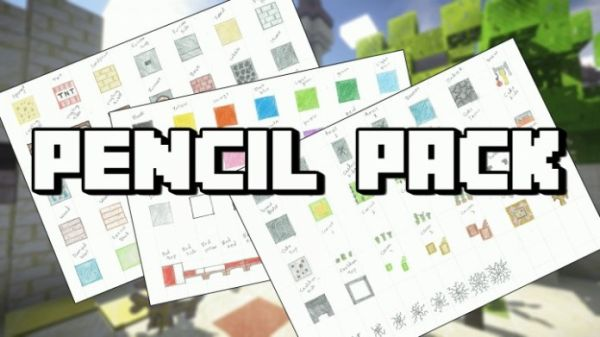 Pencil Pack Hand Drawn Resource Pack 1.11.2