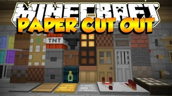 Paper Cut Out Resource Pack 1 11 2 Minecraft Resourcepacks Com