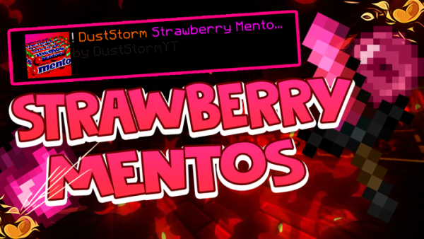 Strawberry Mentos PvP Texture Pack (16x) for Minecraft 1.8