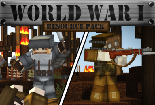 WORLD WAR I PvP Resource Pack [32x] for Minecraft 1.14.2 / 1.14.1 / 1.14 / 1.13 / 1.12 / 1.8