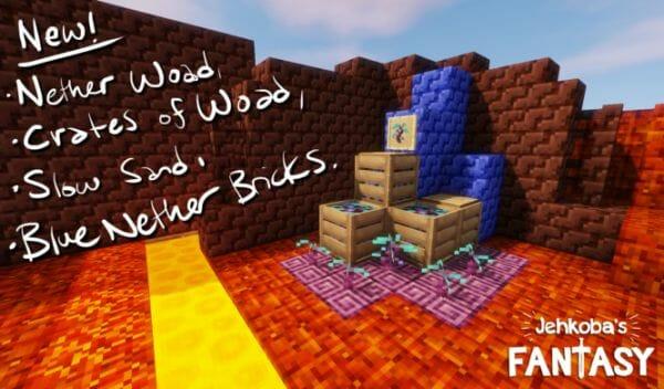 Jehkoba's Fantasy 1.14.3 [16x] 3D Texture Pack