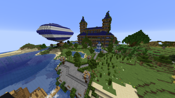 Minecraft Castle - Castle and Gladiator Arena - 1