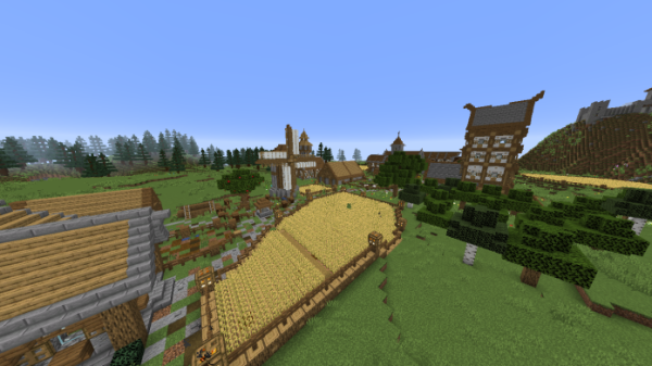 Minecraft Castle - Medieval Village with Castle - 3