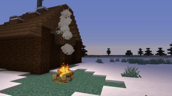 Snowy Log Cabin 3
