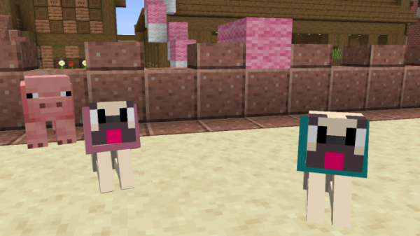 Pugs In Minecraft 1.15 - replace wolves with pugs - 3