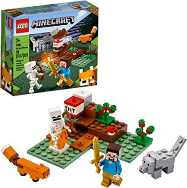 LEGO Minecraft The Taiga Adventure 21162 Brick Building Toy for Kids - Best Minecraft Toys 2020