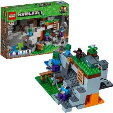 LEGO Minecraft The Zombie Cave 21141 Building Kit - Best Minecraft Toys 2020