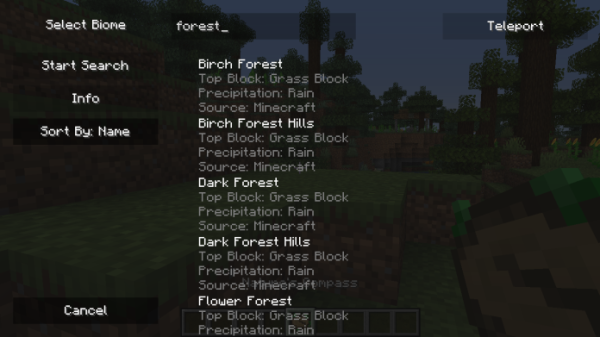 Nature's Compass Mod 1.15.2 (Find any Biome)