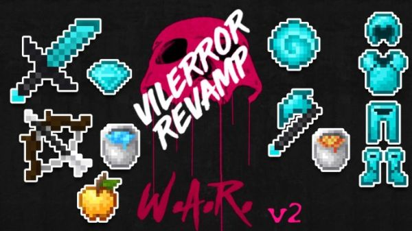 War 16x VilError Revamp 1.8.9 PvP Texture Pack