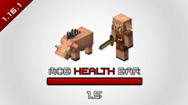 Mob Health Bar 1.16.1 (SSP/SMP) for Minecraft