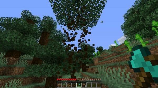 TreeCapitator 1.16.1 Alternative - Timber Datapack 1.16.1 - 1