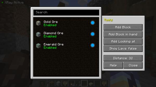 Advanced Xray Mod 1.16.2 for Minecraft - 1