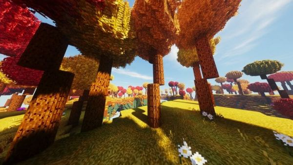 Round Trees 1.17.1 Texture Pack - 1