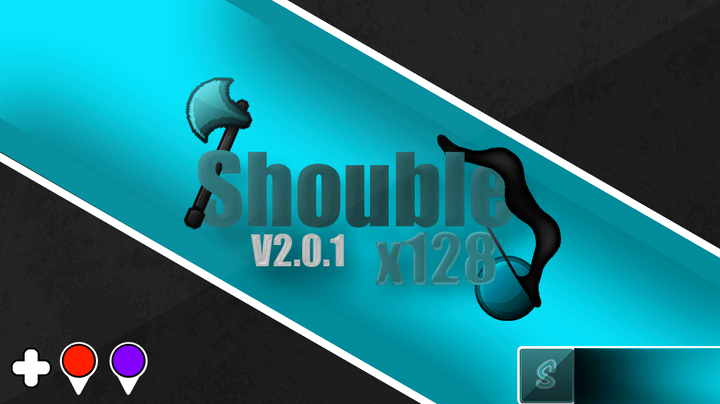 Shouble V2 128x PvP Texture Pack 1.12.2 - 1