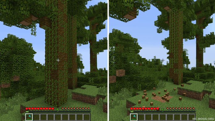 Treecapitator 1.17 – Cut Down Trees Instantly 4