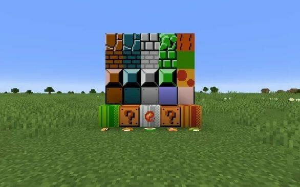 Super Mario Bros Blocks Pack 1.17.1 - main pinterest and site