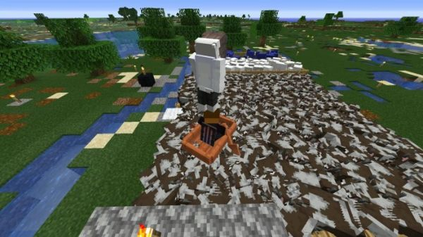 Best Way to Travel in Minecraft! Cow Surfing!