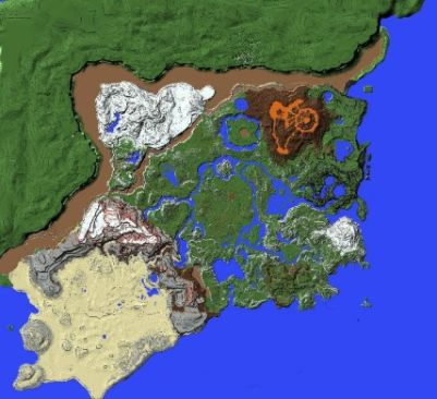 Breath of the Wild Map Recreated in Minecraft - 1