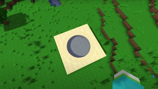 Perfect Circle Created in the Blocky World of Minecraft - 2